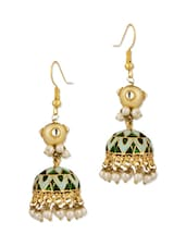 Exquisite Gold Plated Jhumki Earrings - Voylla