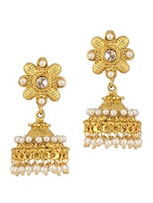 Festive Pair Of Jhumki Earrings - Voylla