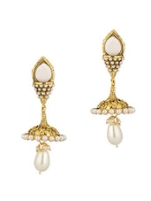 Stones And Pearls Adorned Earrings - Voylla