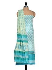Light Blue Cotton Printed Suit Piece - Ethnic Vibe