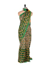 Stunning Green Art Silk Saree With Matching Blouse Piece - Saraswati