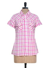 Pink And White Checks Shirt - Mind The Gap
