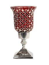 Red Mosaic Small Candle Holders - The Yellow Door