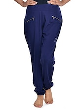 Solid Navy Blue Track Pants - RESTLESS