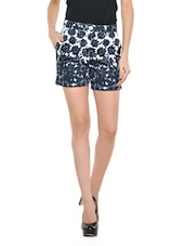 Navy Blue Floral Shorts - Nineteen