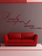 Family & Love Wall Sticker Decal One - Creative Width