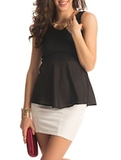Lacey Black Peplum Top - PrettySecrets