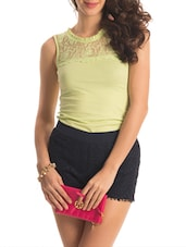 Lime Floral Lace Top - PrettySecrets