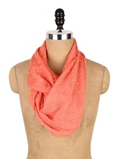 Star Print Poly Cotton Scarf - J STYLE
