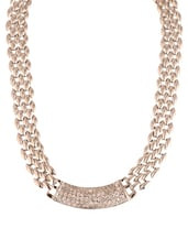 Bold gold chain link necklace