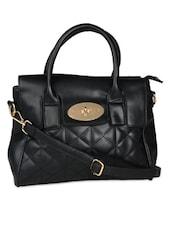 Black Quilted Tote Bag - K22