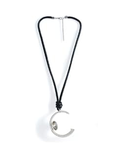 Silver Half-moon Wired Necklace - Tribal Zone