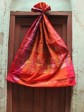 Rich Red Art Silk Saree - BANARASI STYLE