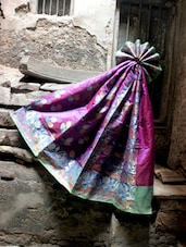Pretty Purple Jacquard Saree - BANARASI STYLE