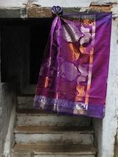 Purple Passion Jacquard Saree - BANARASI STYLE