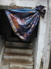 Ornate Blue Art Silk Saree - BANARASI STYLE