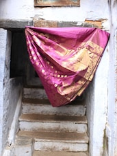 Purple And Gold Silk Saree - BANARASI STYLE