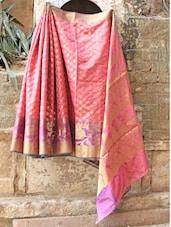 Onion Pink Banarasi Saree