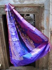 Royal Blue Art Silk Banarasi Saree - BANARASI STYLE