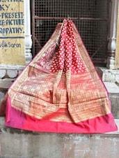 Pink and Gold Banarasi Saree