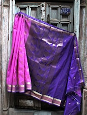 Purple And Blue Banarasi Saree - BANARASI STYLE