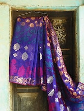 Royal Blue Art Silk Banarasi Saree - BANARASI STYLE