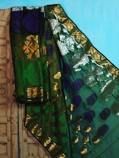 Green And Blue Art Silk Benarasi Saree - BANARASI STYLE