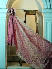 Light Pink Cotton Net Benarasi Saree - BANARASI STYLE