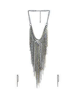 Sparkling Steel Necklace - Tribal Zone