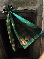 Chic Green Banarasi Art Silk Saree - BANARASI STYLE