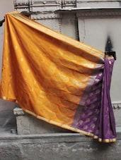 Luxe Contrast Banarasi Cotton Saree - BANARASI STYLE