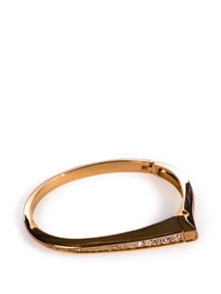 Frosted Gold Kada With Diamonds - Tribal Zone
