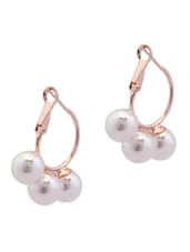 Faux Pearl Embellished Earrings - YOUSHINE
