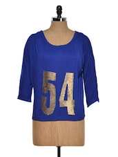 Royal Blue Casual Top - Golden Couture