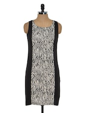 Monochrome Zebra-print Dress - Golden Couture