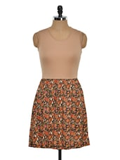 Multicoloured Printed Floral Dress - Golden Couture