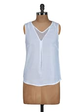 Plain White Top With Lace - Meira