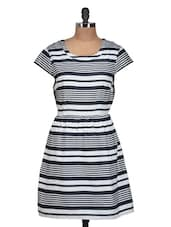 Monochrome Striped Dress - QUEST
