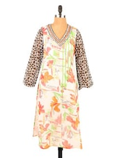 Floral Printed Long Kurti - Fashion 205