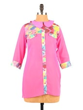 Pink Georgette Top With Peter Pan Collar - Fashion 205