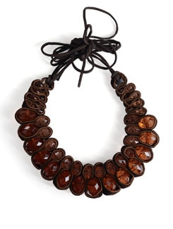 Brown Crystal Choker Necklace - Tribal Zone