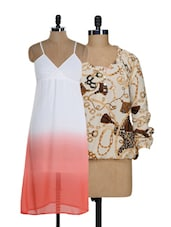 Chains And Ombre Top And Dress Set - @ 499