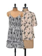 Bats And Zebra Top And Dress Set - @ 499