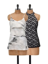 Lace And Marble Top Set - @ 499