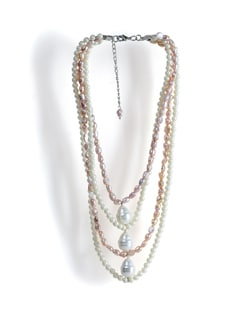Layered Pearl Necklace - Tribal Zone