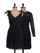 Set Of Black Full-sleeved And Cut Sleeved Dress - @ 499