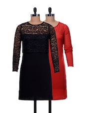 Set Of Chic Cocktail Lace Dresses - @ 499