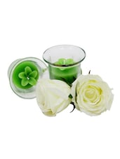 Green Floral Candles - Gifts By Meeta