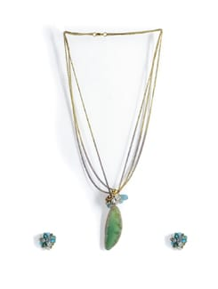 Green Beaded Necklace Set - Tribal Zone