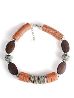 Short Orange-wood Necklace - Tribal Zone